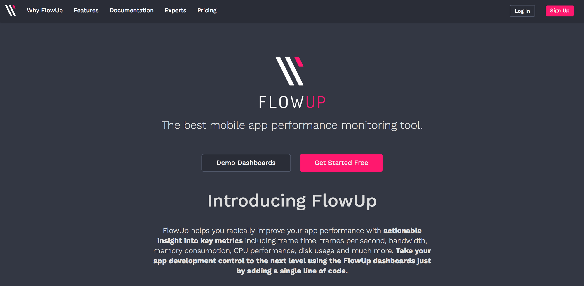 FlowUp:  Announcing a new perspective